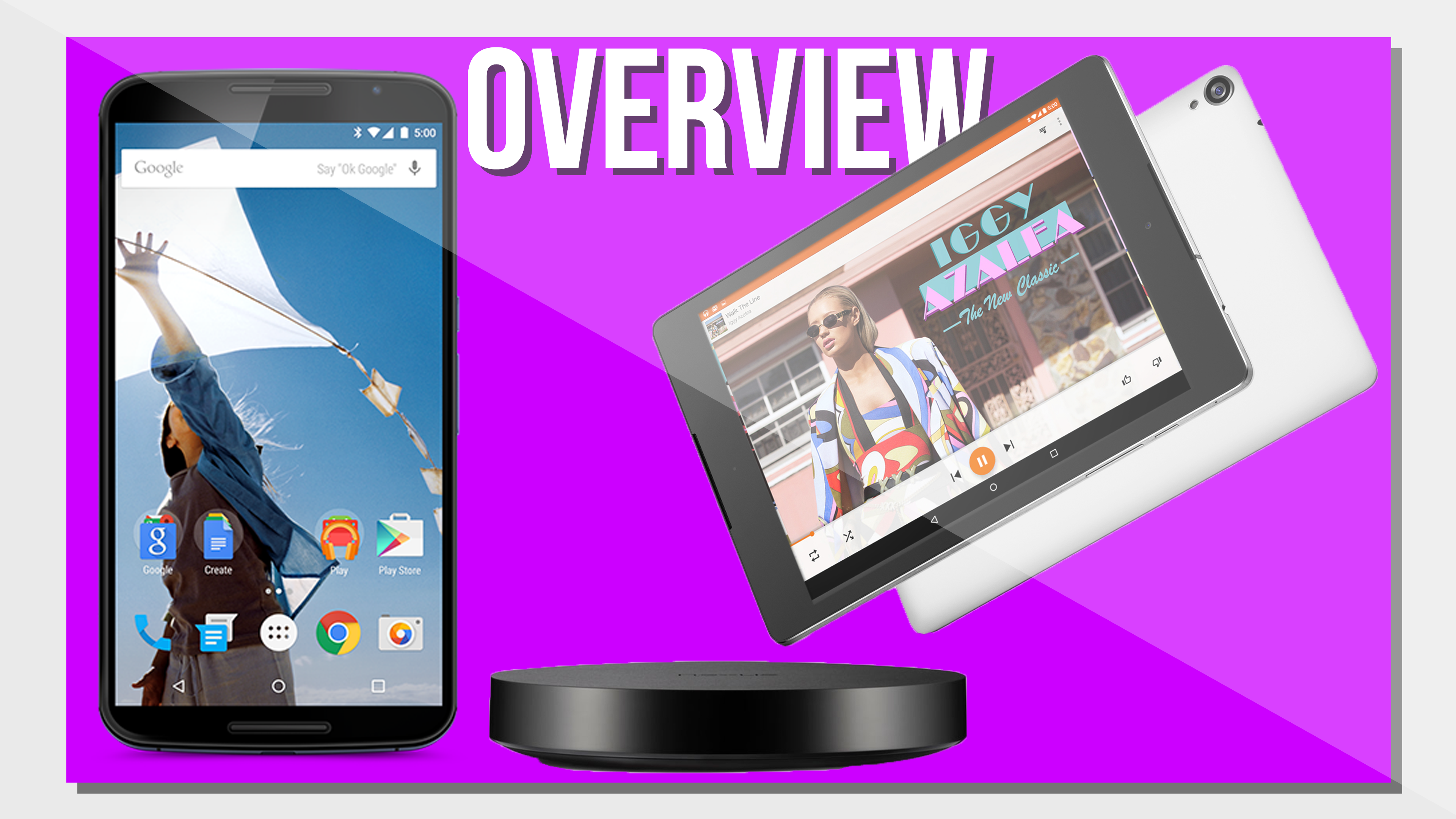 Nexus 6, Nexus 9, Nexus Player – Overview