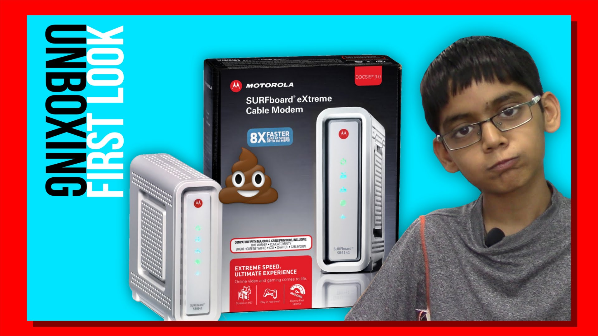 ARRIS / Motorola SurfBoard eXtreme SB6141 DOCSIS 3.0 Cable Modem – Unboxing and First Look