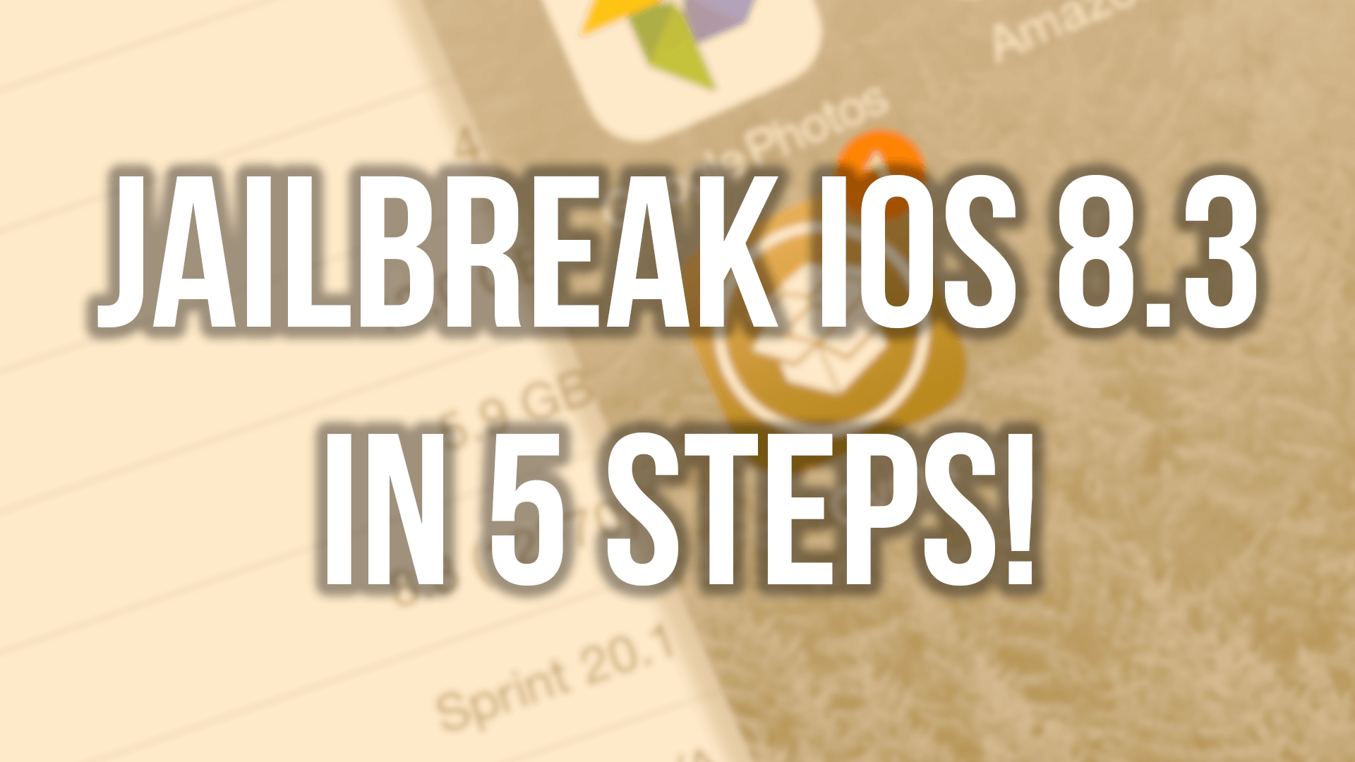 Jailbreak iOS 8.3 in 5 Simple steps!